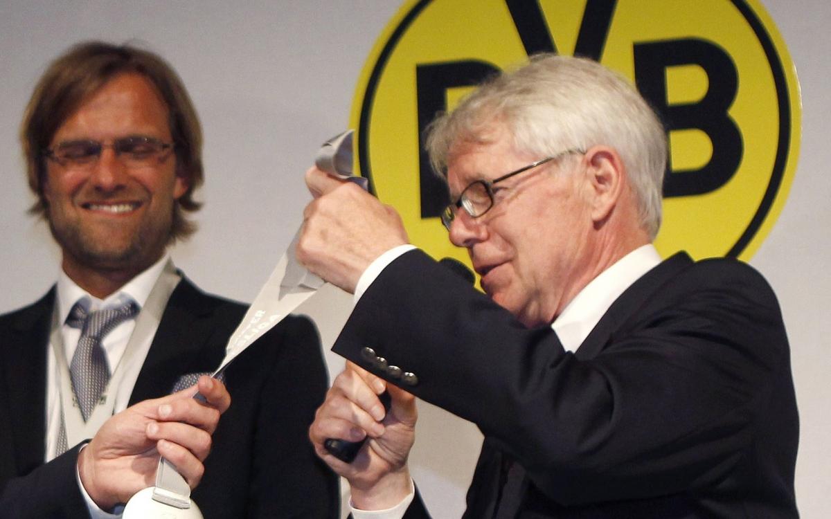 Jurgen Klopp and Reinhard Rauball