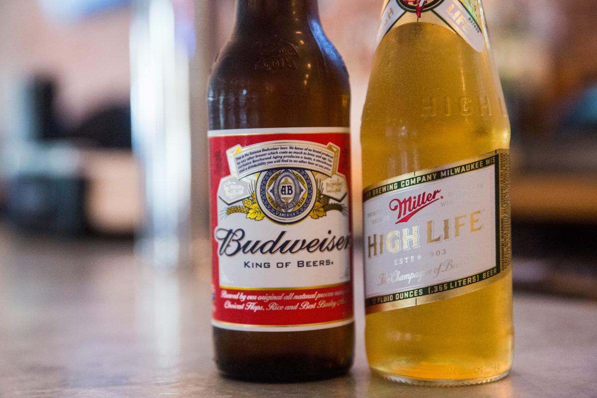 Budweiser and Miller