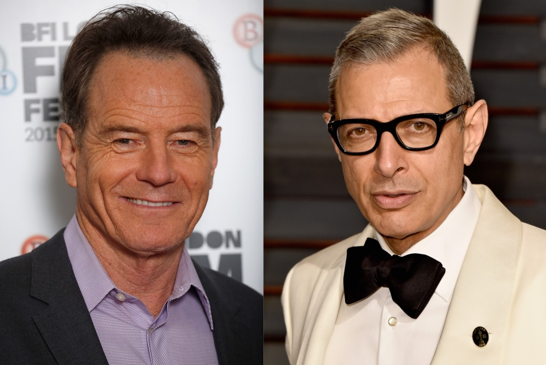 Bryan Cranston and Jeff Goldblum