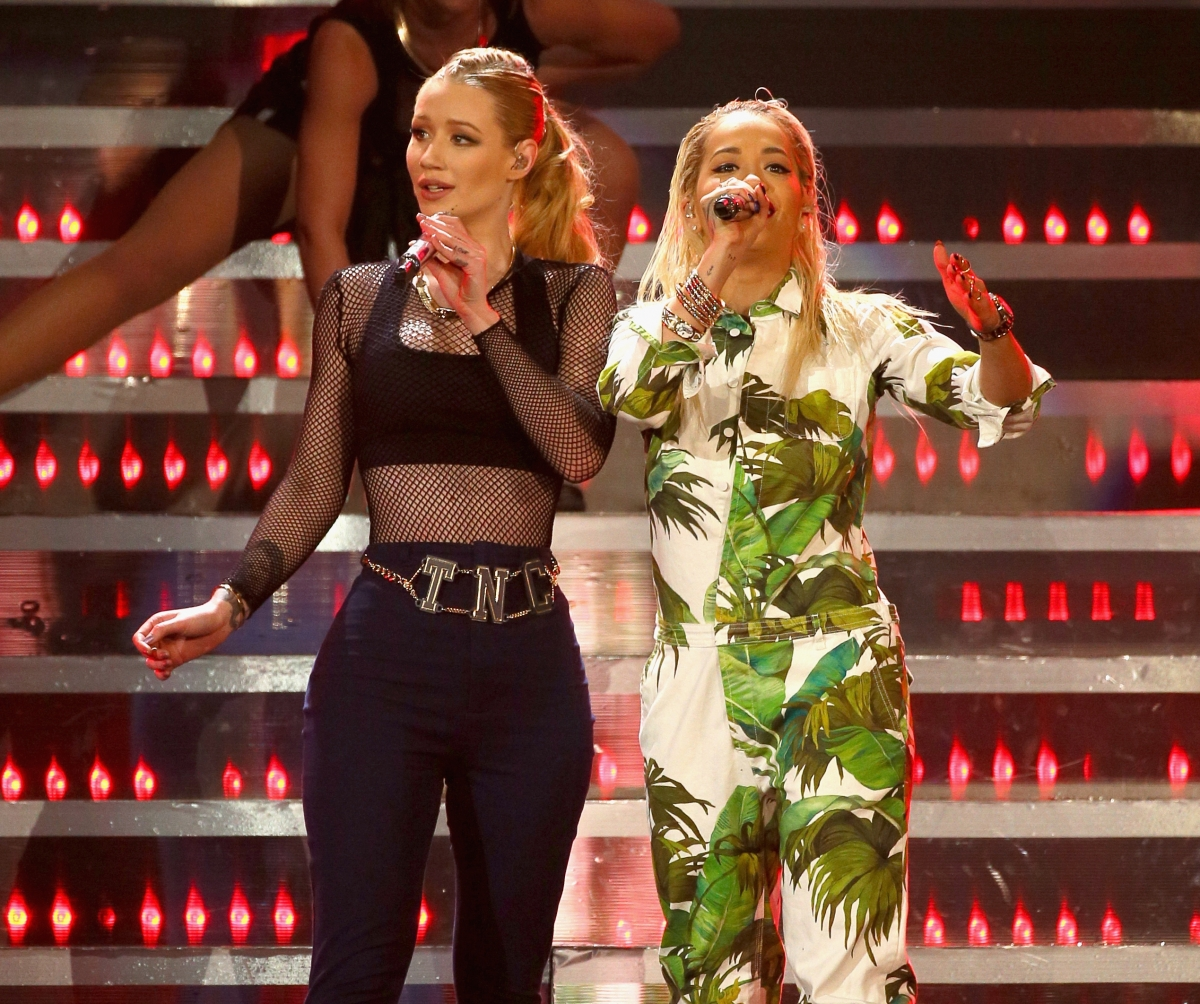Rita Ora and Iggy Azalea
