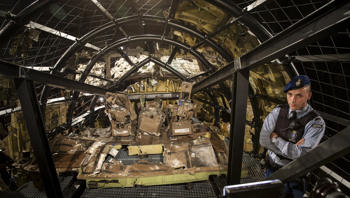 cockpit of the MH17 airplane