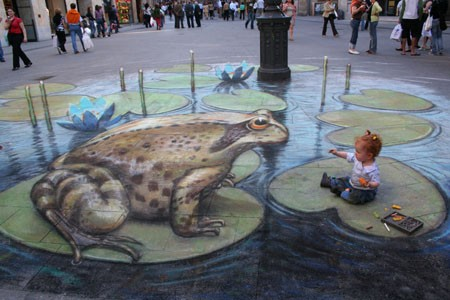 Astounding 3D Images by Beever on the UK streets.