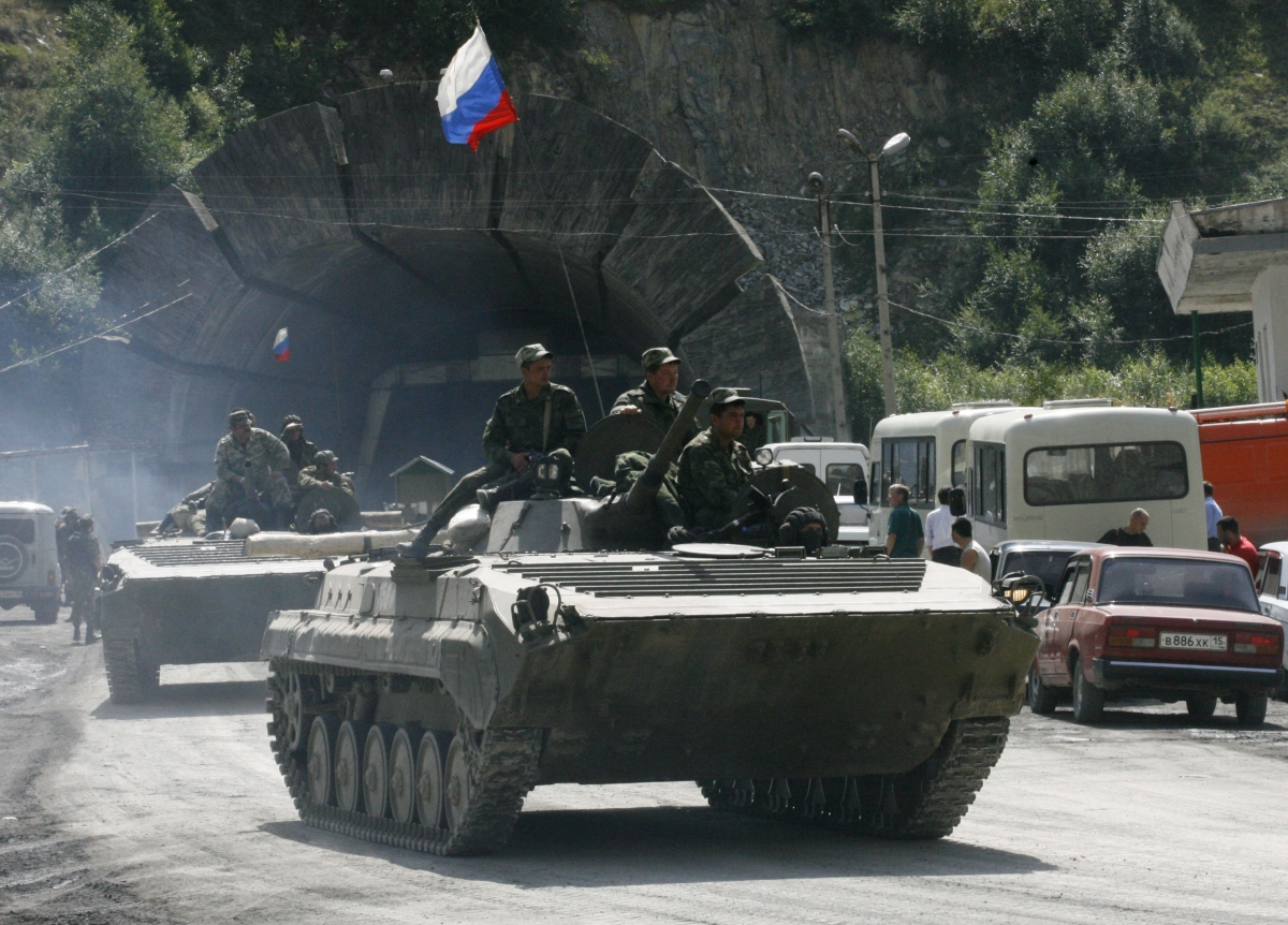 Russian armoured vehicles, South Ossetia