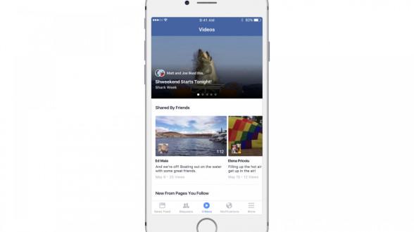 Facebook videos section