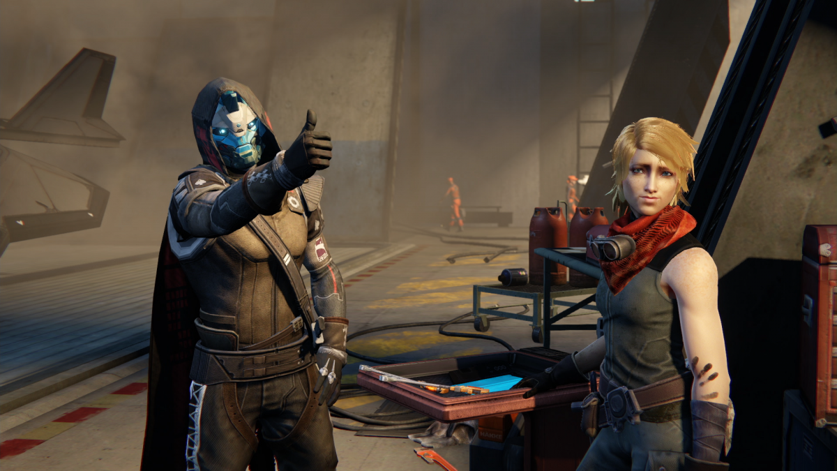 Destiny Side Character Cayde Gives A Thumbs Up In Mission From The Taken King Activision
