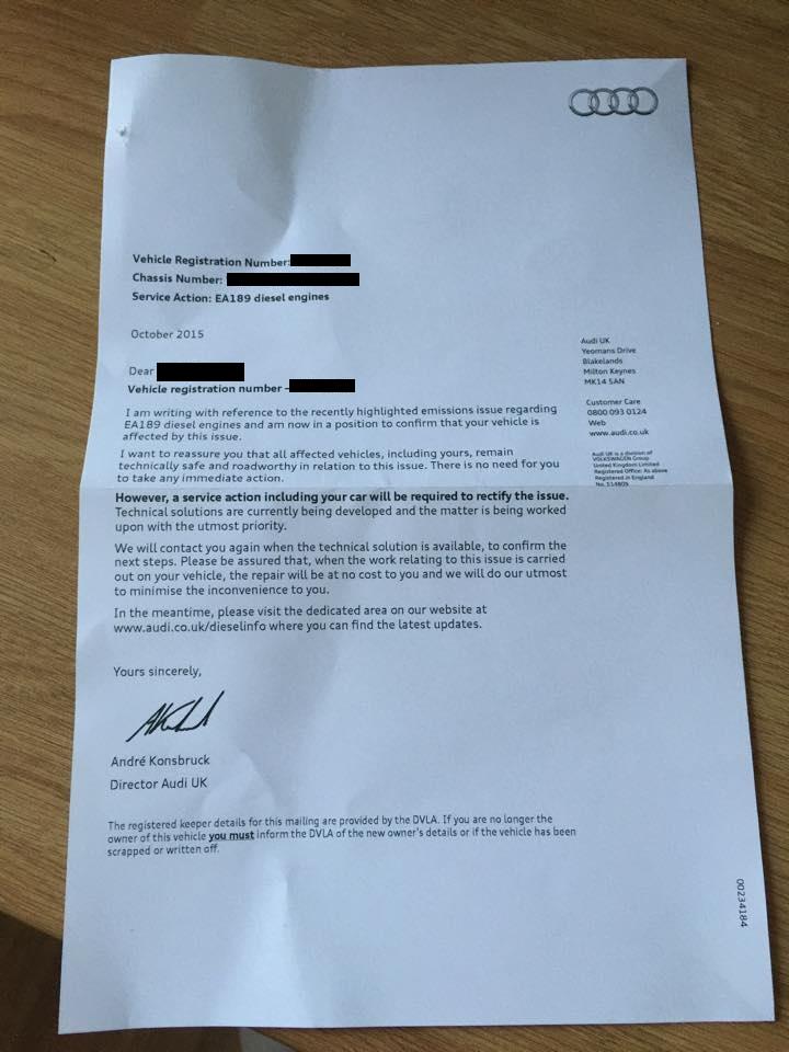 VW emissions scandal: Volkswagen Group begins sending recall letters to UK drivers