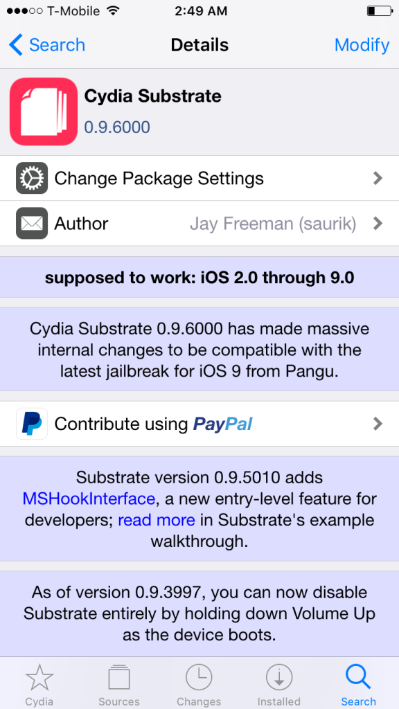 Cydia Substrate compatibility update