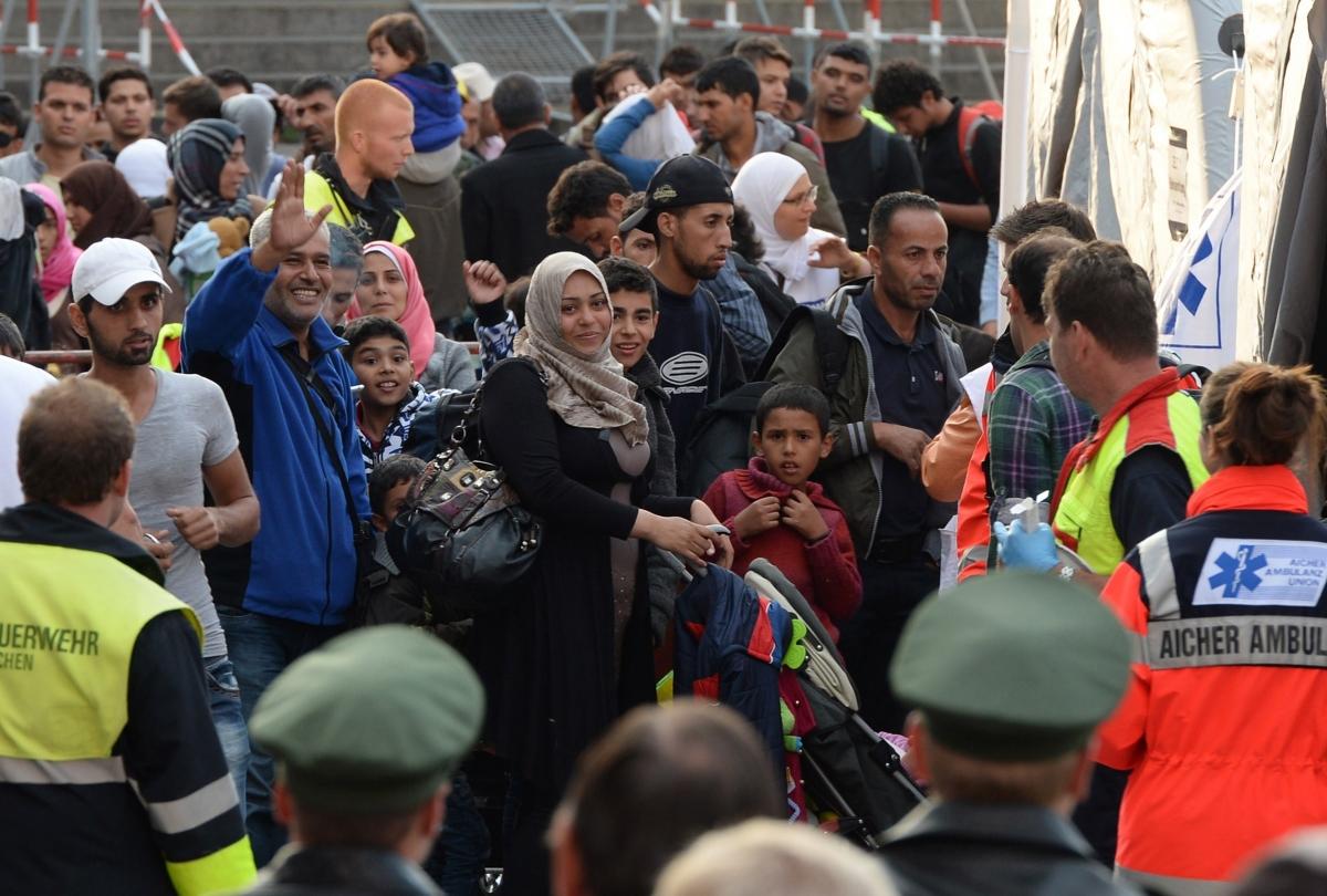 Refugees arrive in Munich