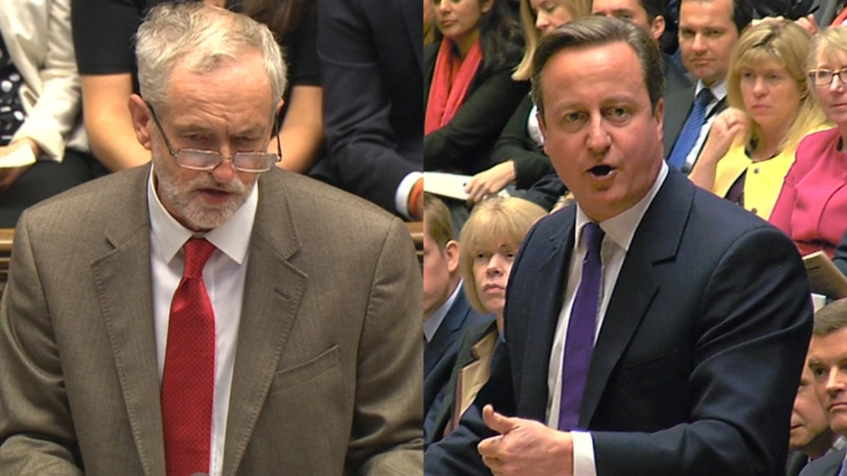 Corbyn and Cameron clash in the Commons