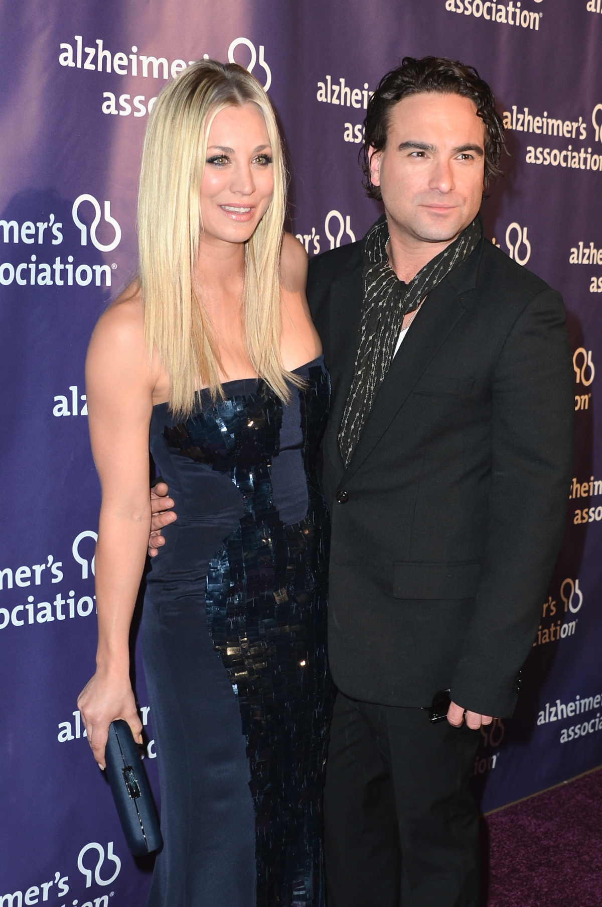 Kaley Cuoco and Johnny Galecki