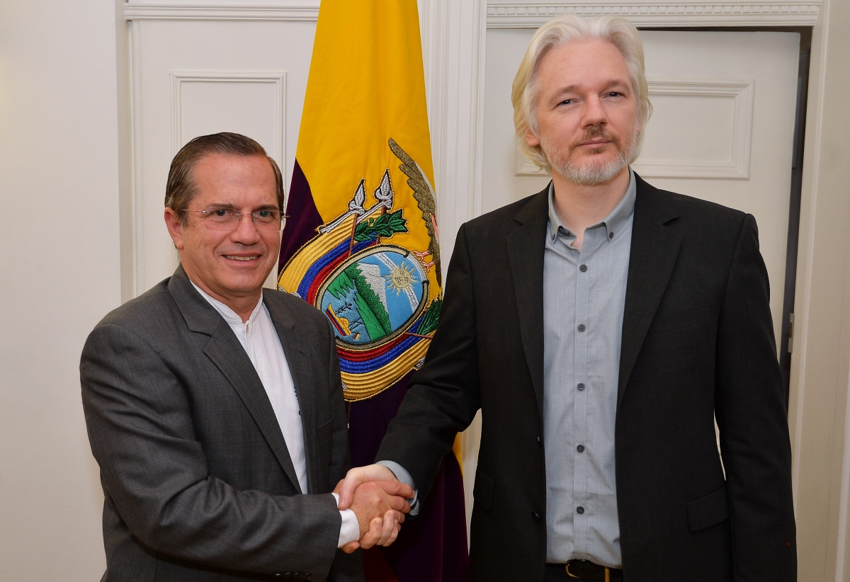 Ricardo Patino and Julian Assange