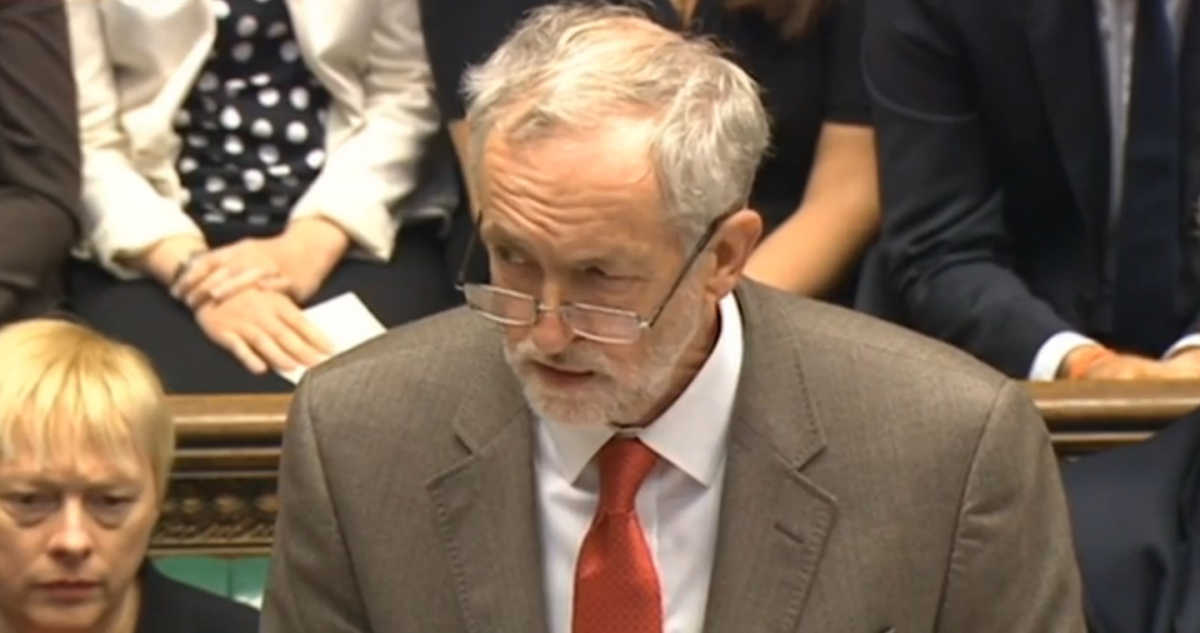 Corbyn side eye