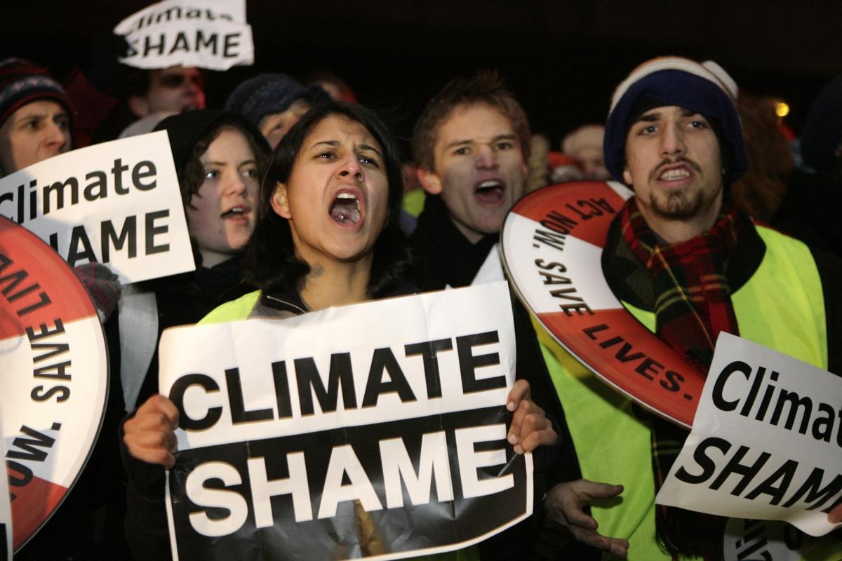 Climate Change Protesters in Copenhagen 2009