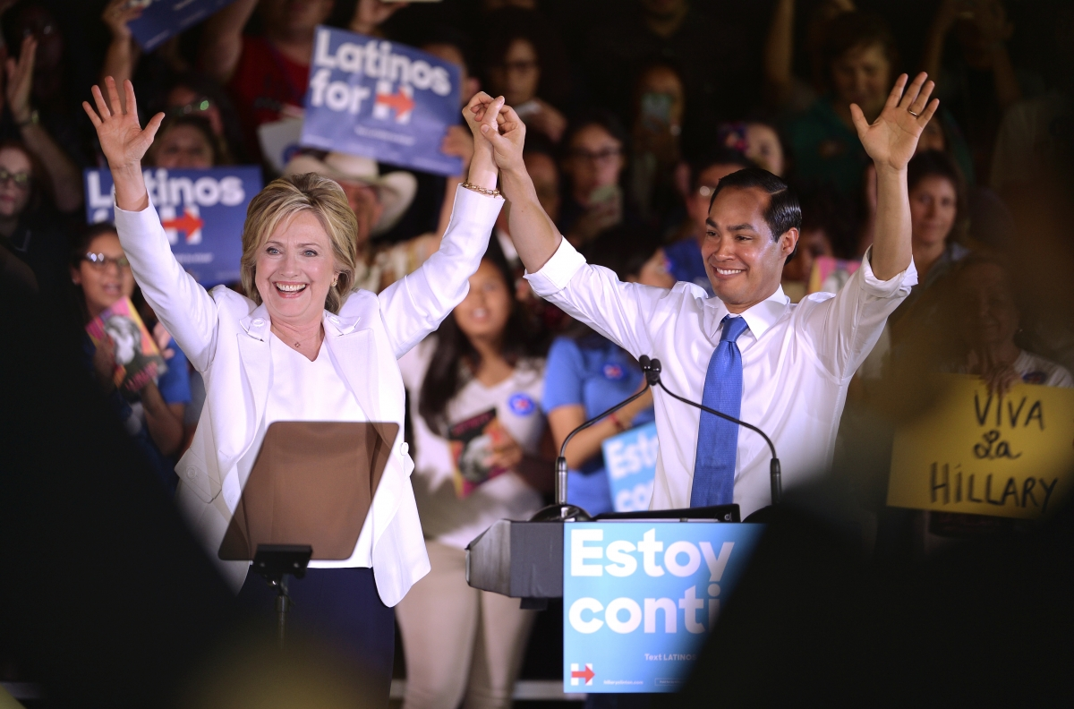 Hillary Clinton and Julian Castro