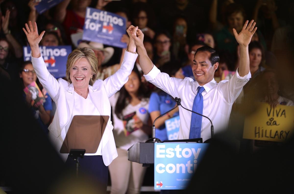 Hillary Clinton and Julian Castro