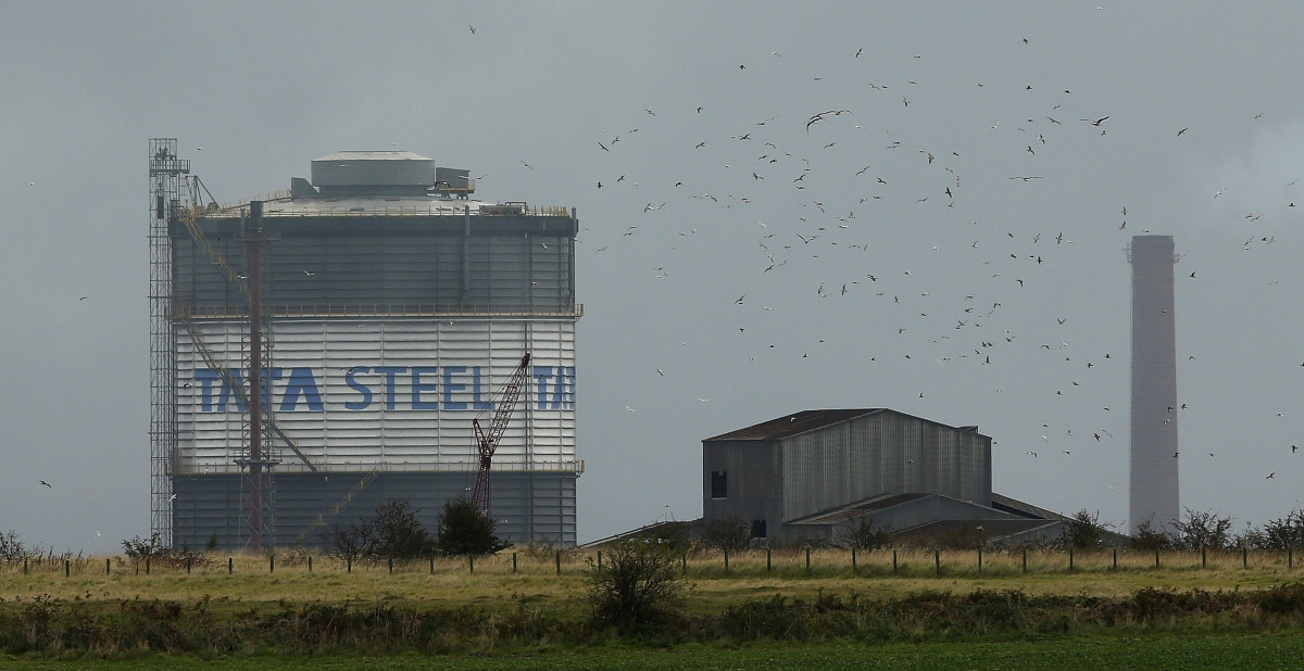 Tata Steel plant in Scunthorpe
