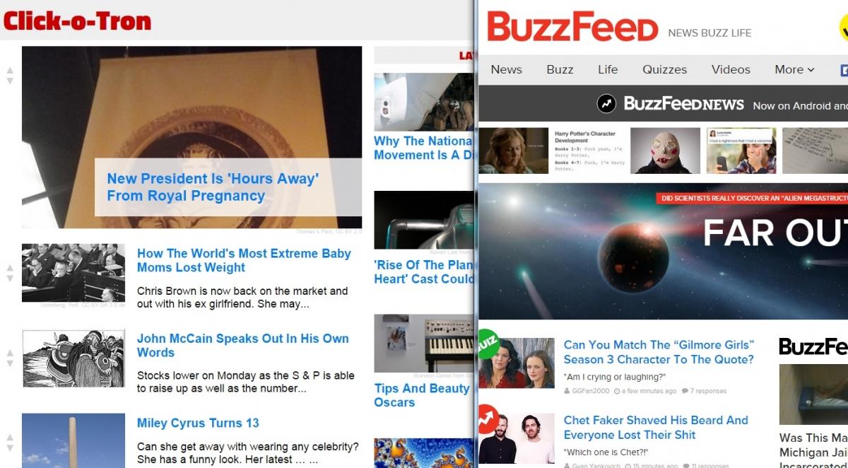 Artificial intelligence creates clickbait news website