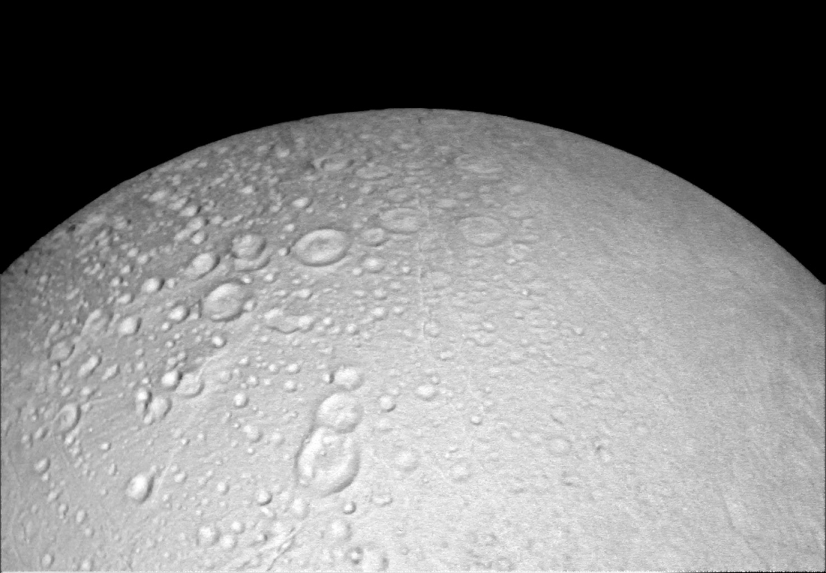 Nasa releases photos of Saturn's moon Enceladus