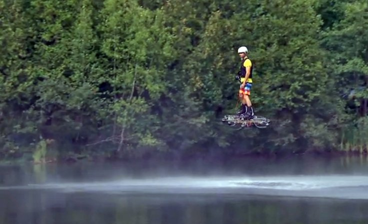 Catalin Alexandru Duru on the Omni Hoverboard