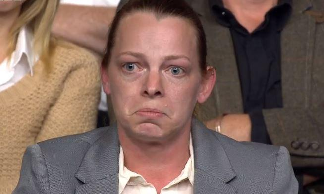 Tearful Michelle Dorrell on Question Time