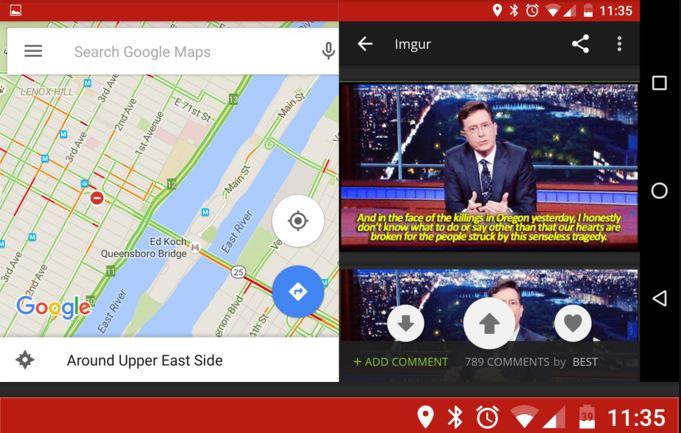 Multi-window on Android Marshmallow