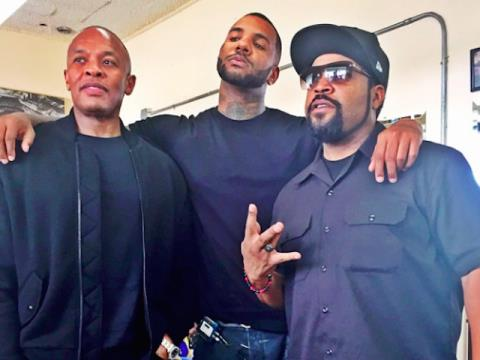 Rapper Game, Dr Dre and Ice Cube