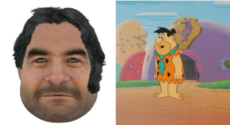 Police E-fit/Fred Flintstone