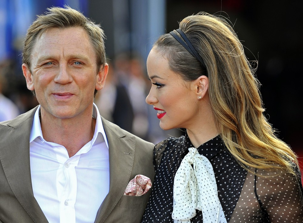 Actors Daniel Craig and Olivia Wilde