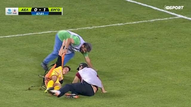Injured football dropped twice
