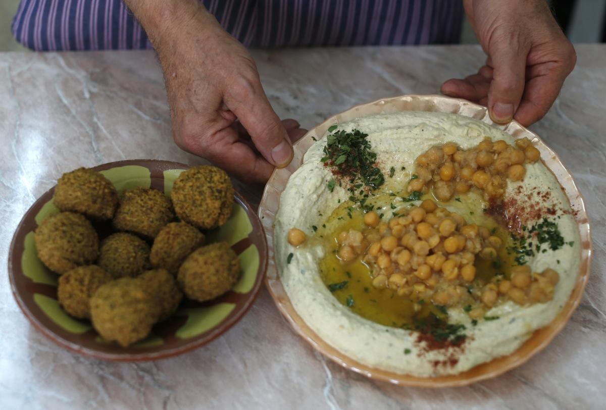 falafel and hummus Jerusalem