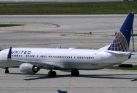 United Airlines plane, Chicago