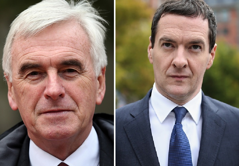 John McDonnell and George Osborne