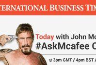 john McAfee AskMcAfee twitter Q&A
