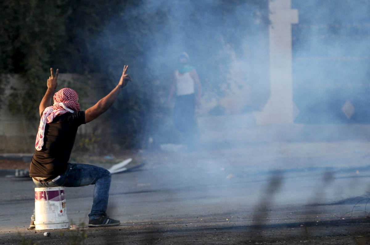Palestinian knife intifada protests West Bank