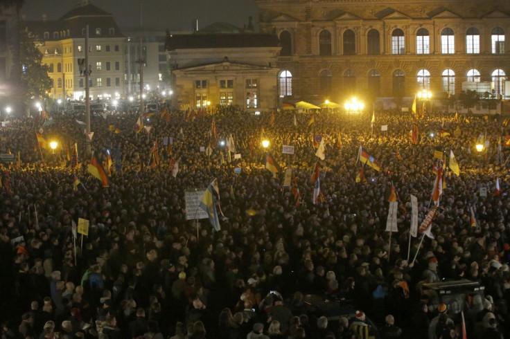 Pegida rally