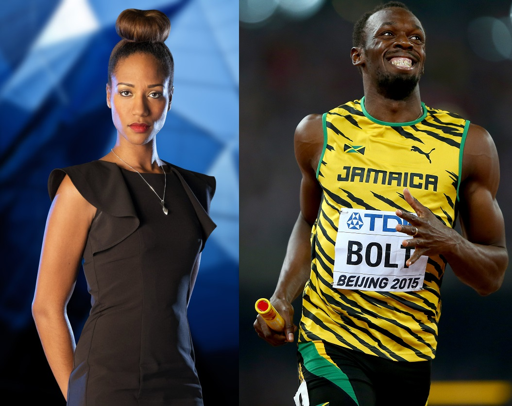 April Jackson and Usain Bolt