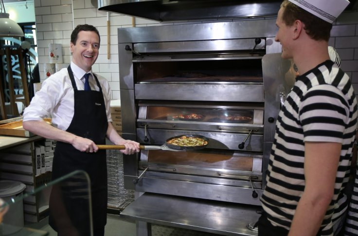 George Osborne at Pizza Express