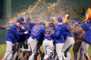 Chicago Cubs celebrate winning National League Division