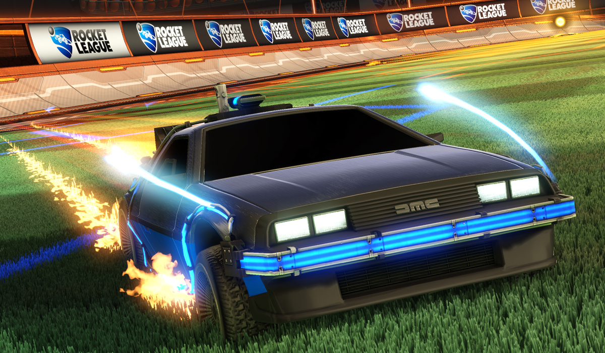 Rocket League DeLorean