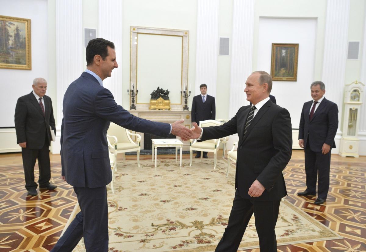 Putin Assad Moscow meeting