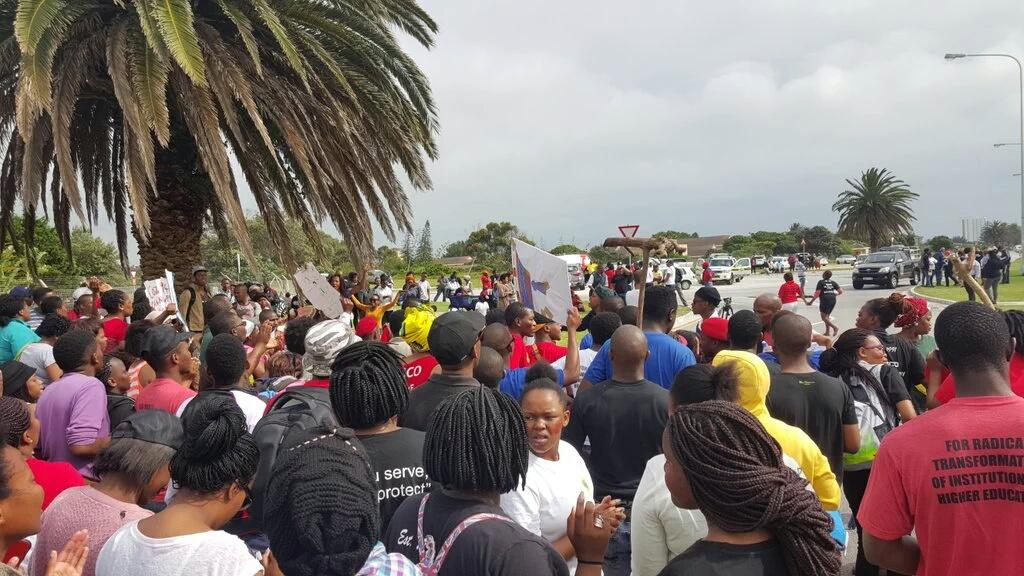 Student protests at South African university