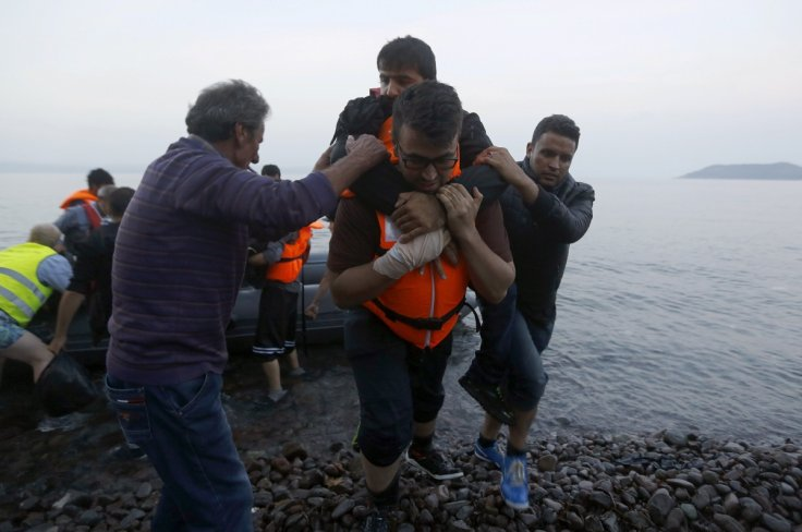 Syrian refugees Lesbos Greece