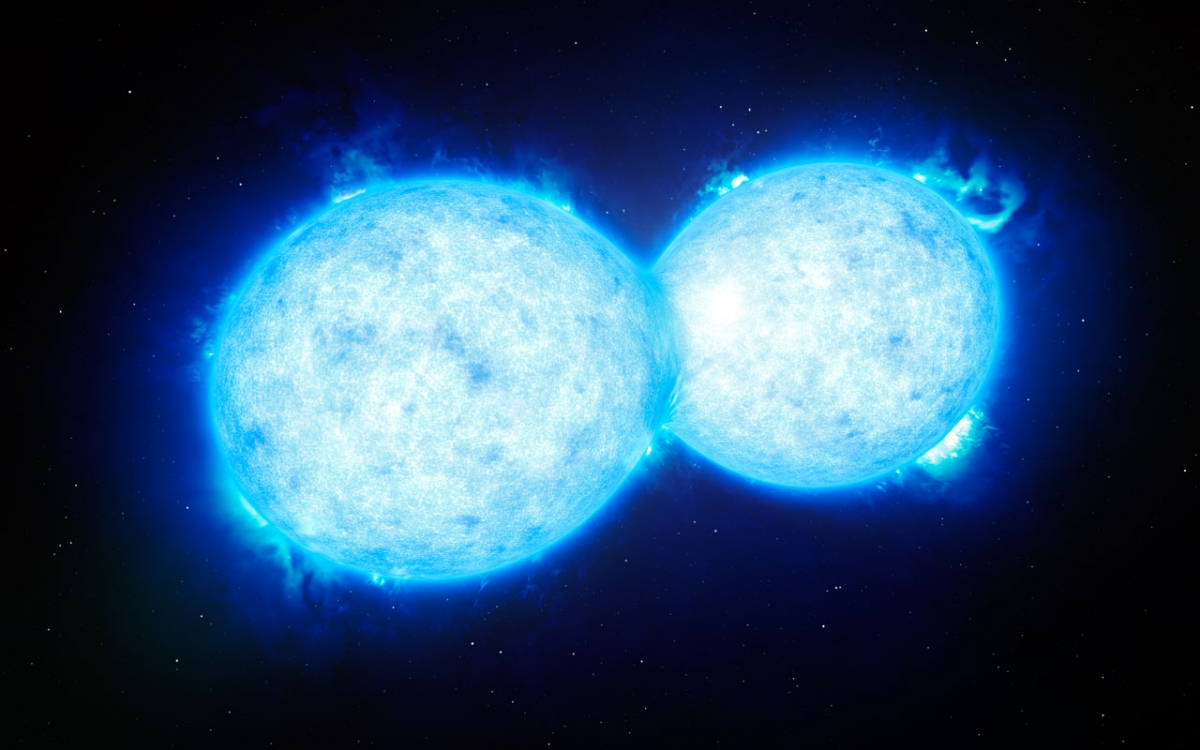 two massive stars colliding