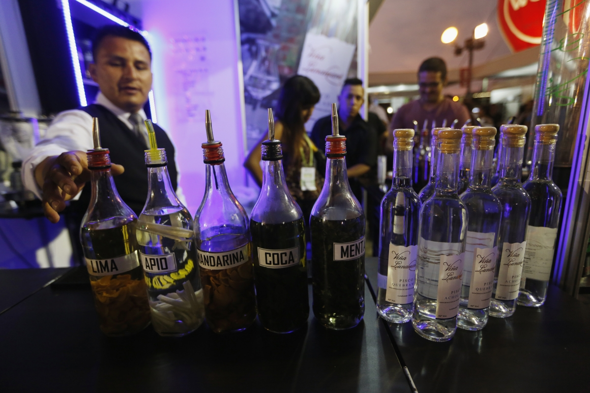 Selection of Pisco in Peru