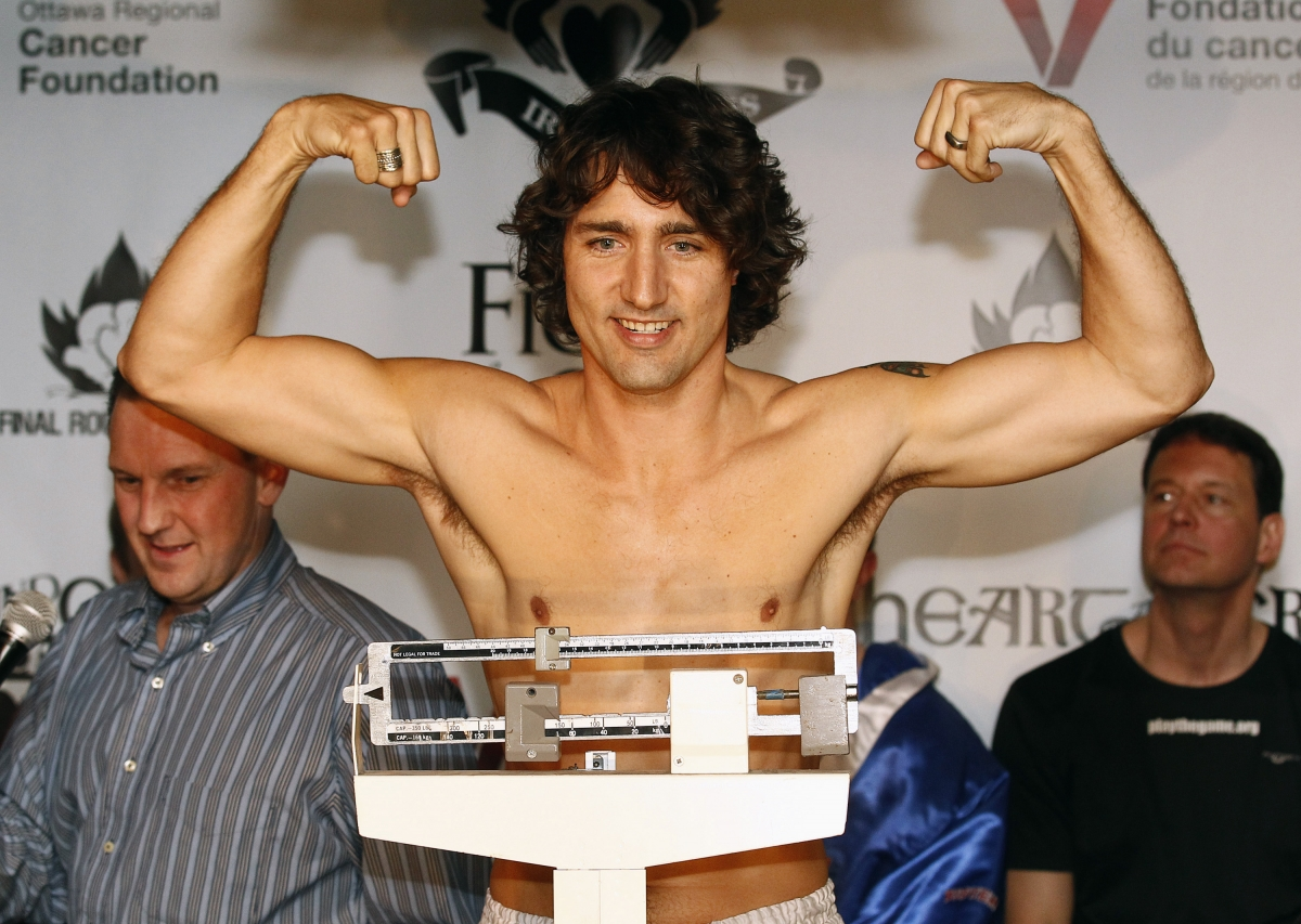 Justin Trudeau gestures