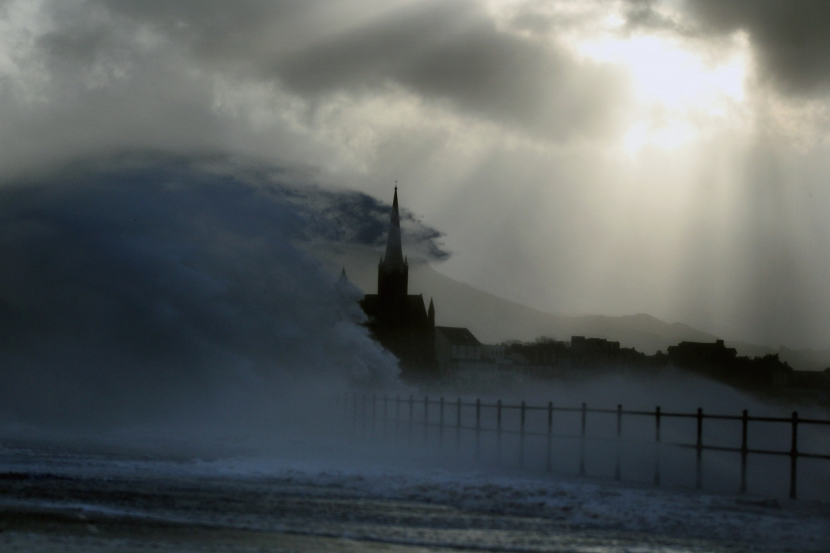 Strong winds and stormy conditions hit Scotland