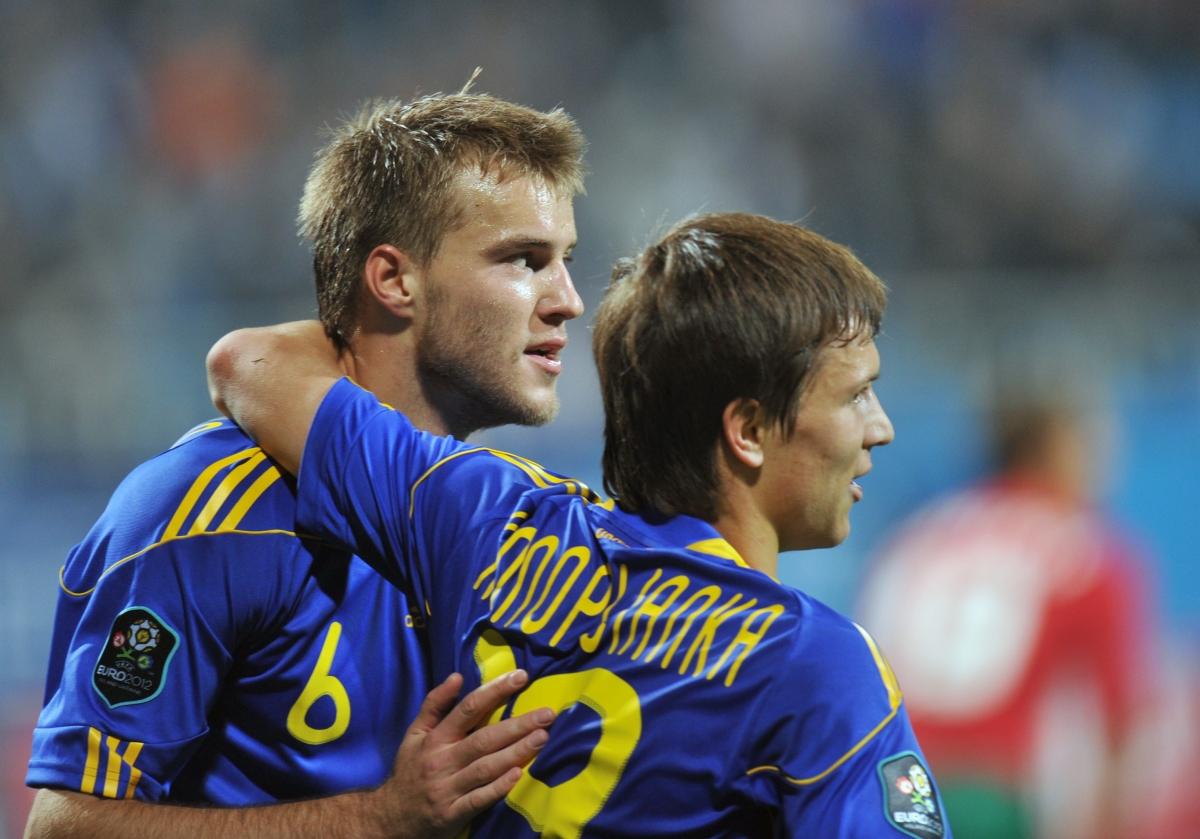 Andriy Yarmolenko and Yevhen Konoplyanka
