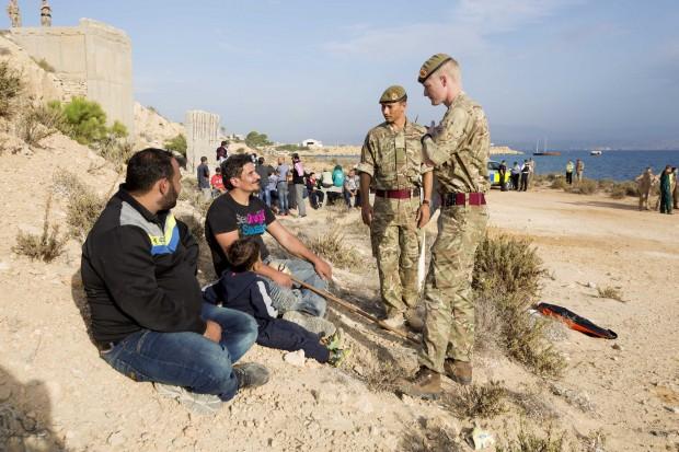 Syrian refugees at RAF Akrotiri