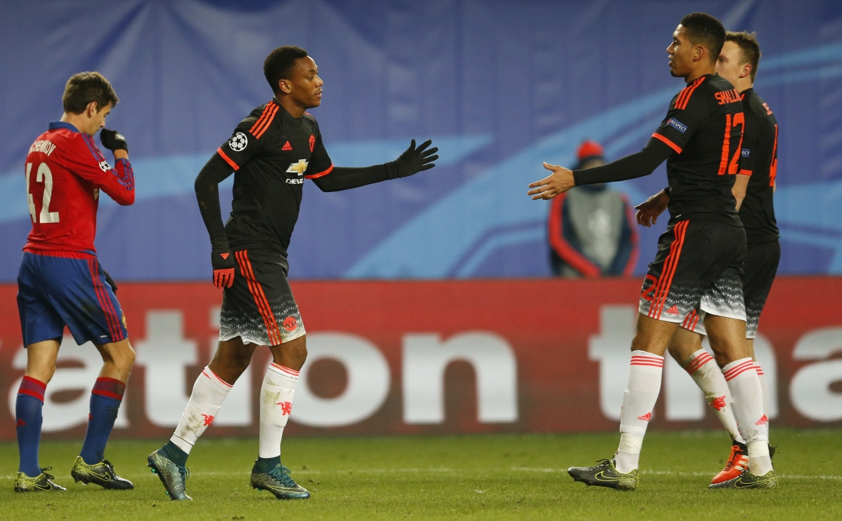 Anthony Martial & Chris Smalling