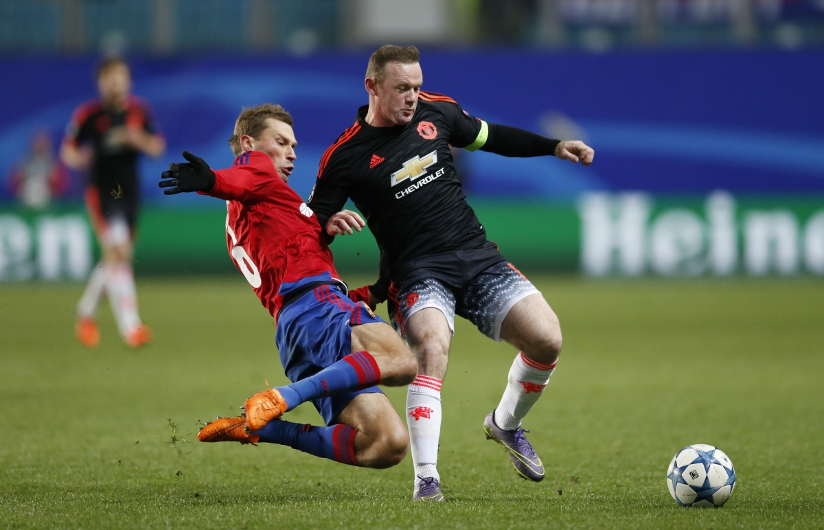 Wayne Rooney & Aleksei Berezutski
